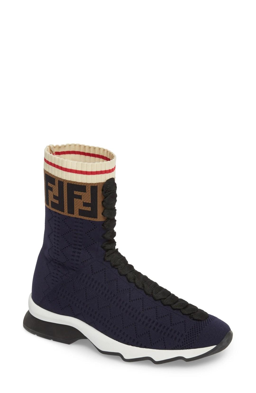 0688d8d4ce66 Women s Fendi Rockoko Logo Sock Sneaker