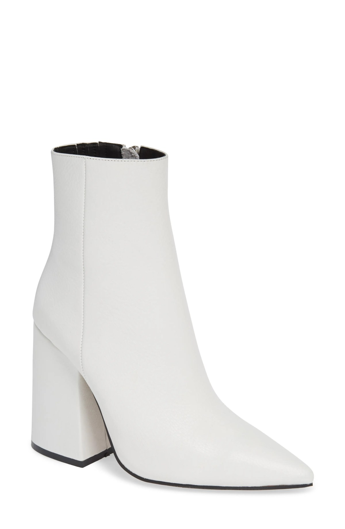 Ahara Bootie, Main, color, WHITE LEATHER