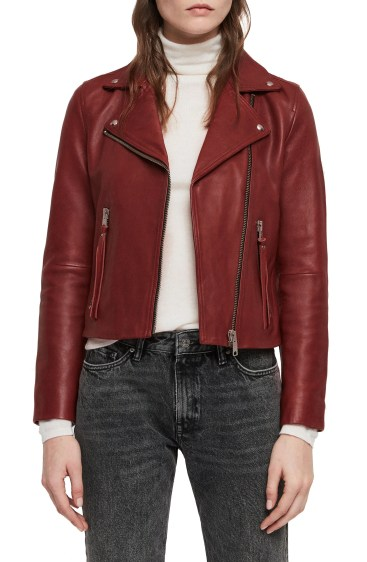 Dalby Biker Jacket, Main, color, BRICK RED