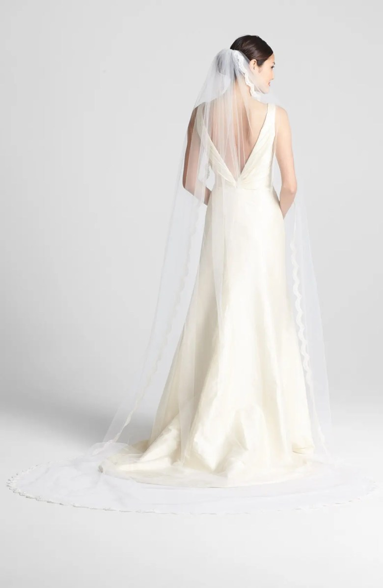 cathedral veils for petite brides