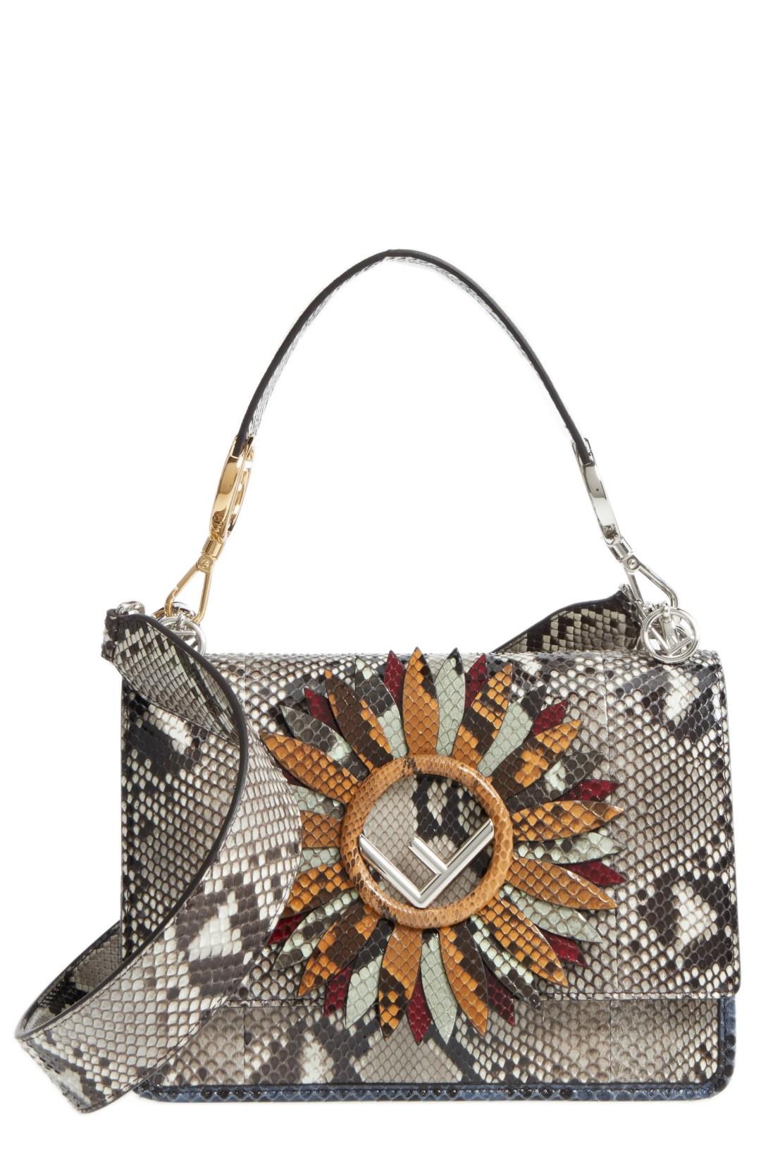 80c683d26cf5 Fendi Kan I Daisy Logo Genuine Python Shoulder Bag – – NORDSTROM.com –   5