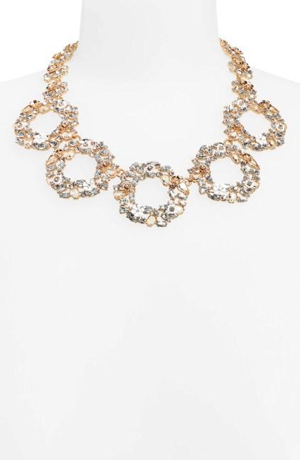Floral Circle Statement Necklace,                         Alternate,                         color, CRYSTAL