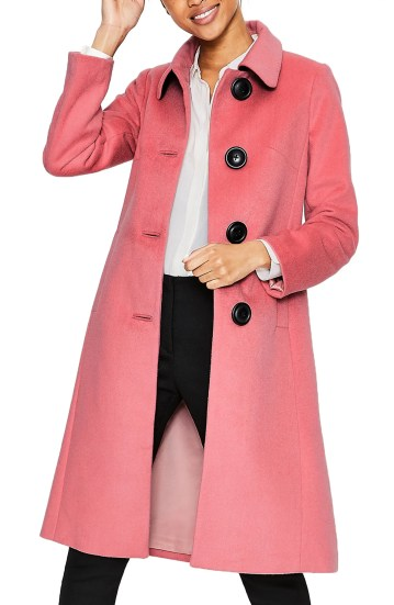 Conwy Wool Blend Coat,                         Main,                         color, BLUSH