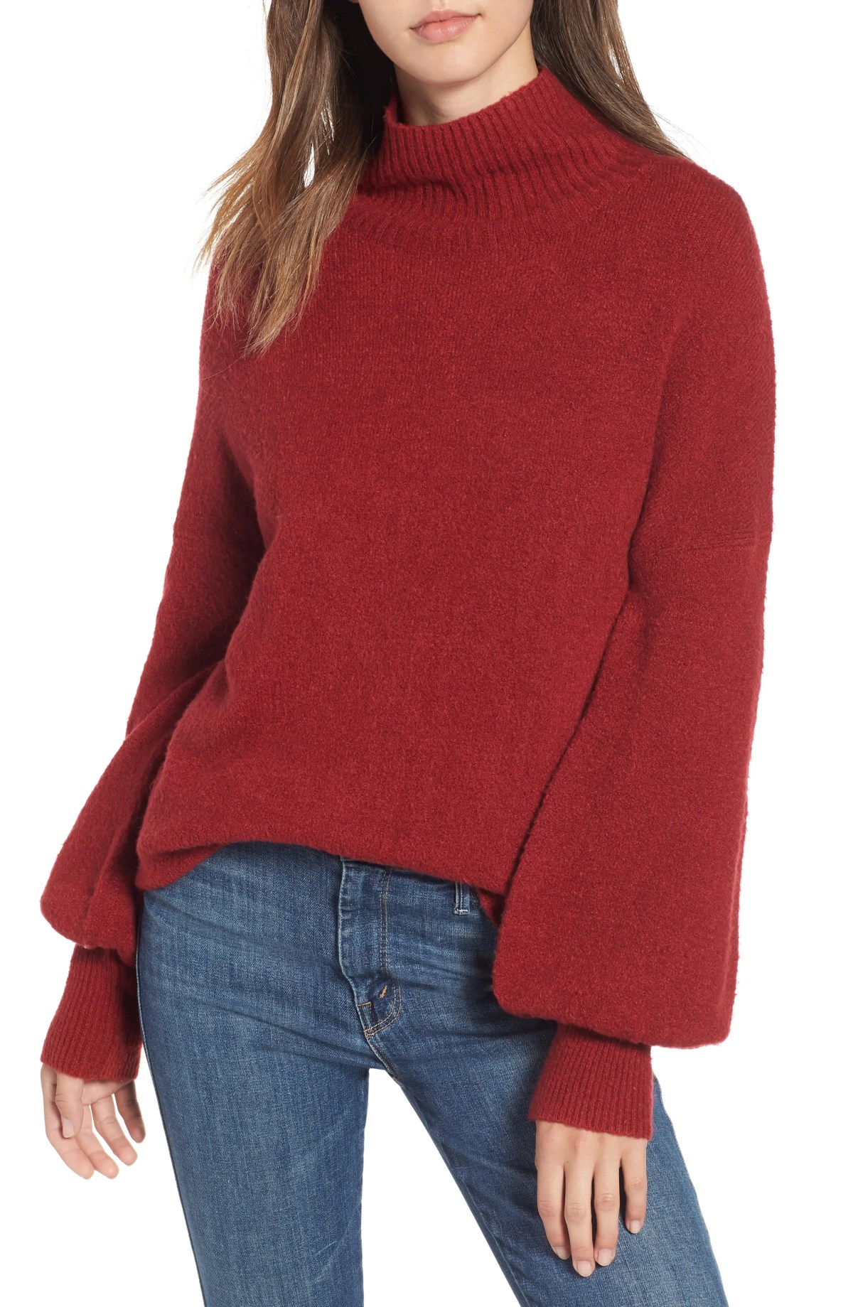 Orla Sweater, Main, color, DEEP FRAMBOISE