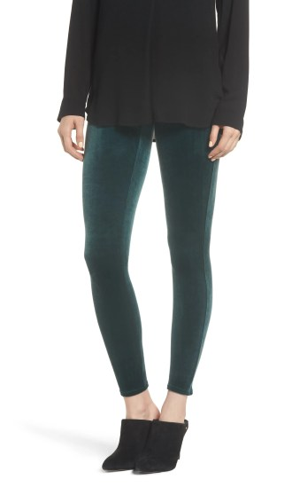Velvet Leggings, Main, color, MALACHITE