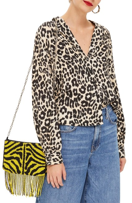 Jessica Animal Print Blouse,                         Main,                         color, BLACK MULTI