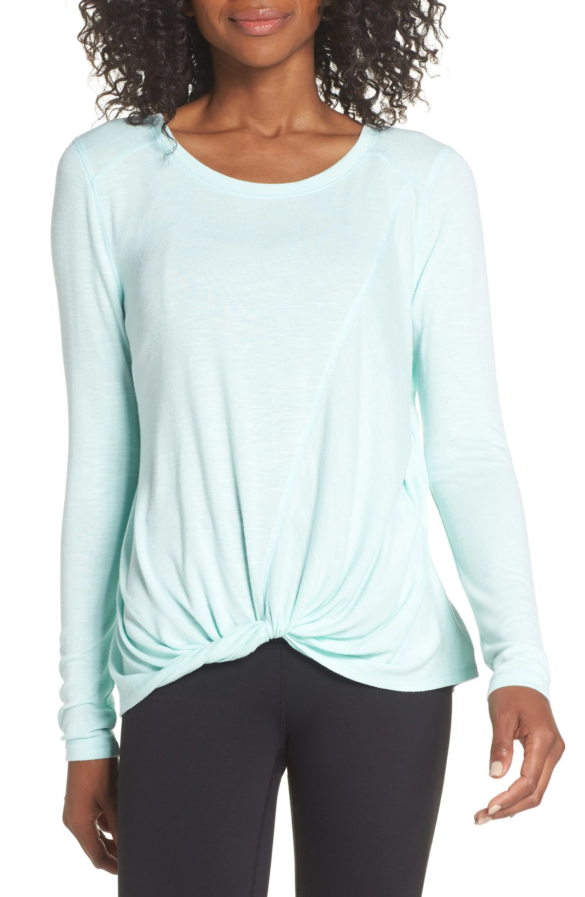 ZELLA Twisty Turn Tee, Main, color, TEAL FAIR