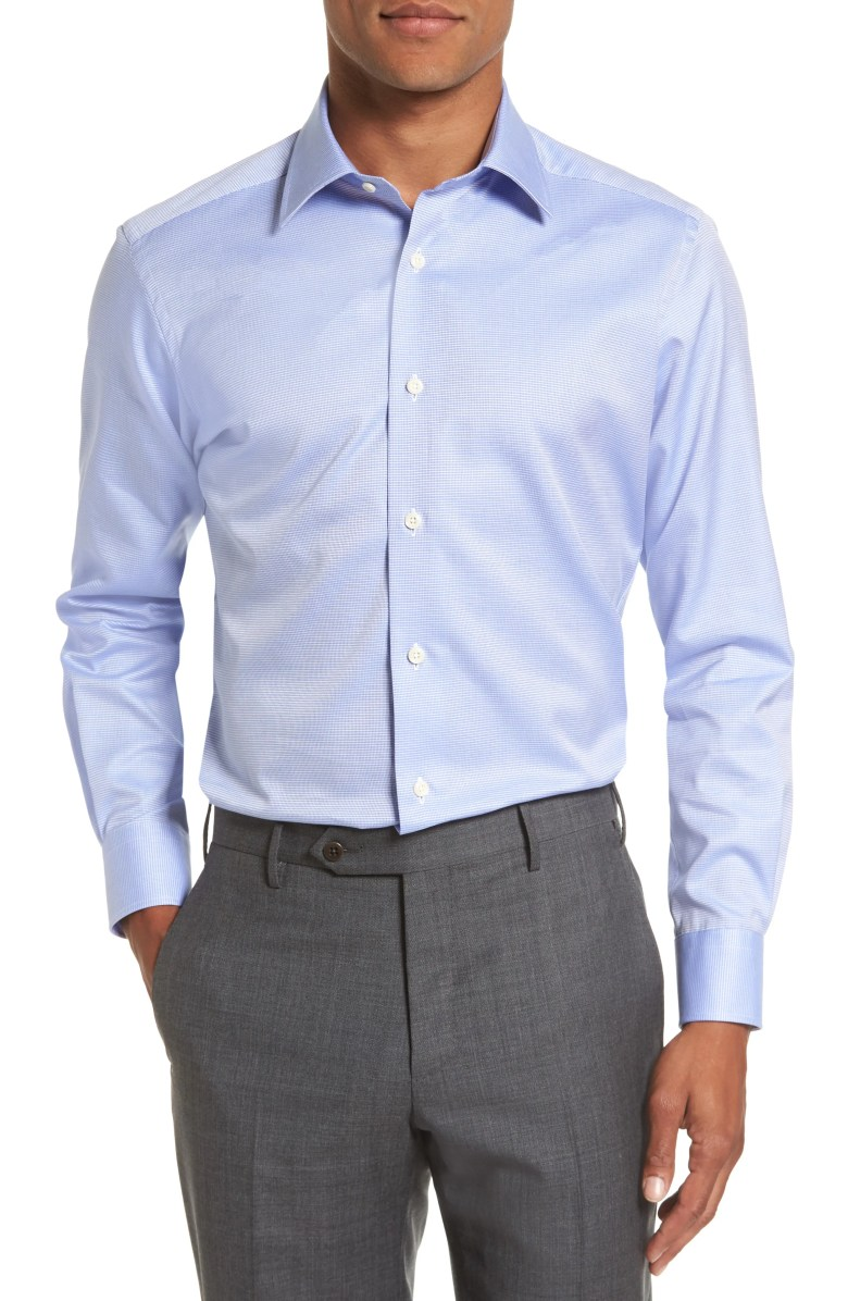 A pale blue dress shirt is something to have