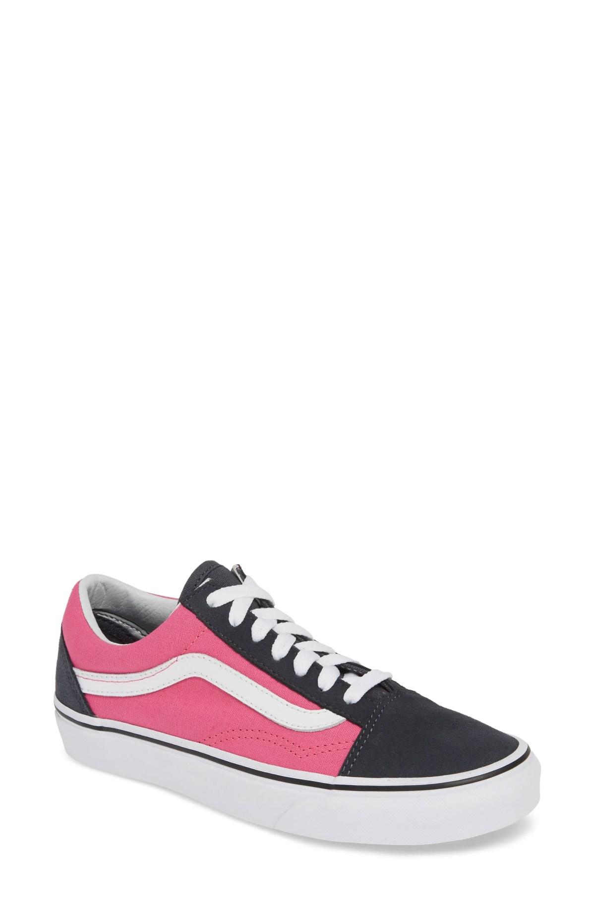 VANS Old Skool Sneaker, Main, color, 2-TONE EBONY/ CARMINE ROSE