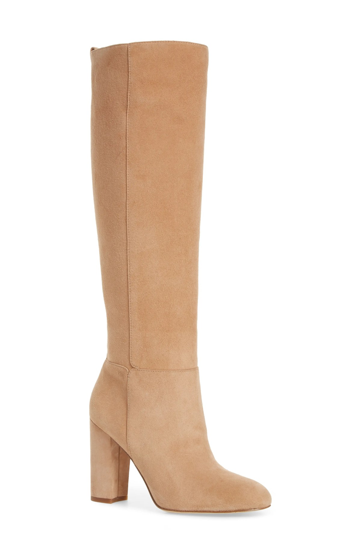 Caprice Knee-High Boot,                         Main,                         color, GOLDEN CARAMEL SUEDE