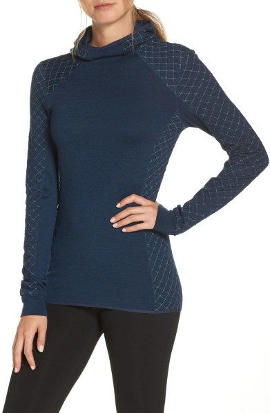Affinity Thermo Hooded Pullover,                         Main,                         color, ECLIPSE HEATHER