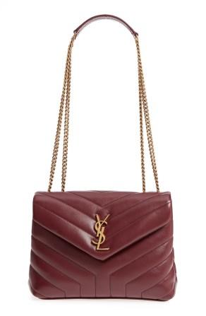 Small Loulou Leather Shoulder Bag, Main, color, ROUGE LEGION/ ROUGE LEGION