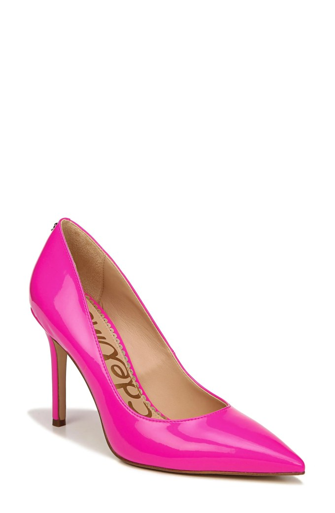 Hazel Pointy Toe Pump, Main, color, NEON FUCHSIA PATENT LEATHER