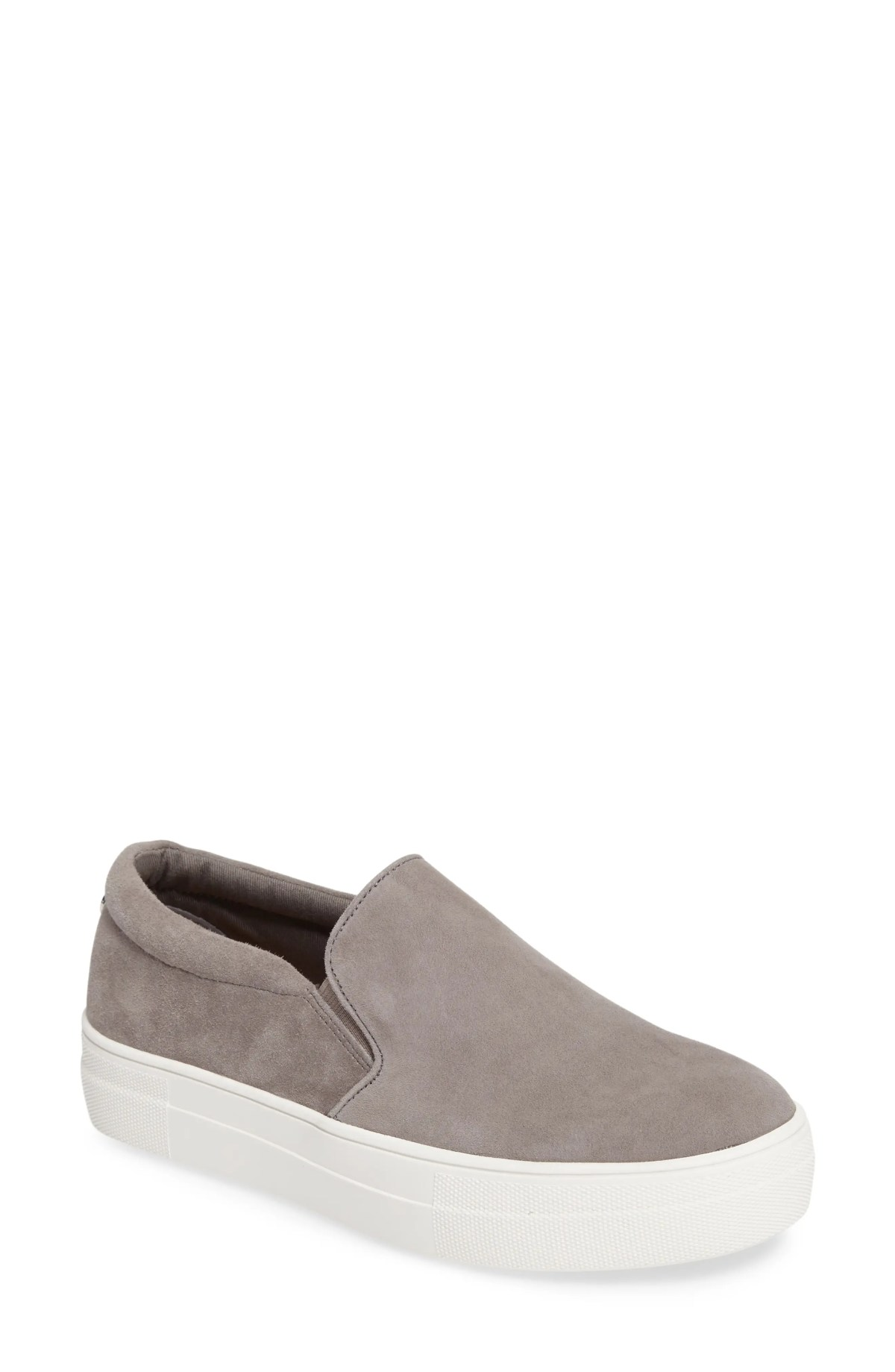 STEVE MADDEN Gills Platform Slip-On Sneaker, Main, color, GREY SUEDE