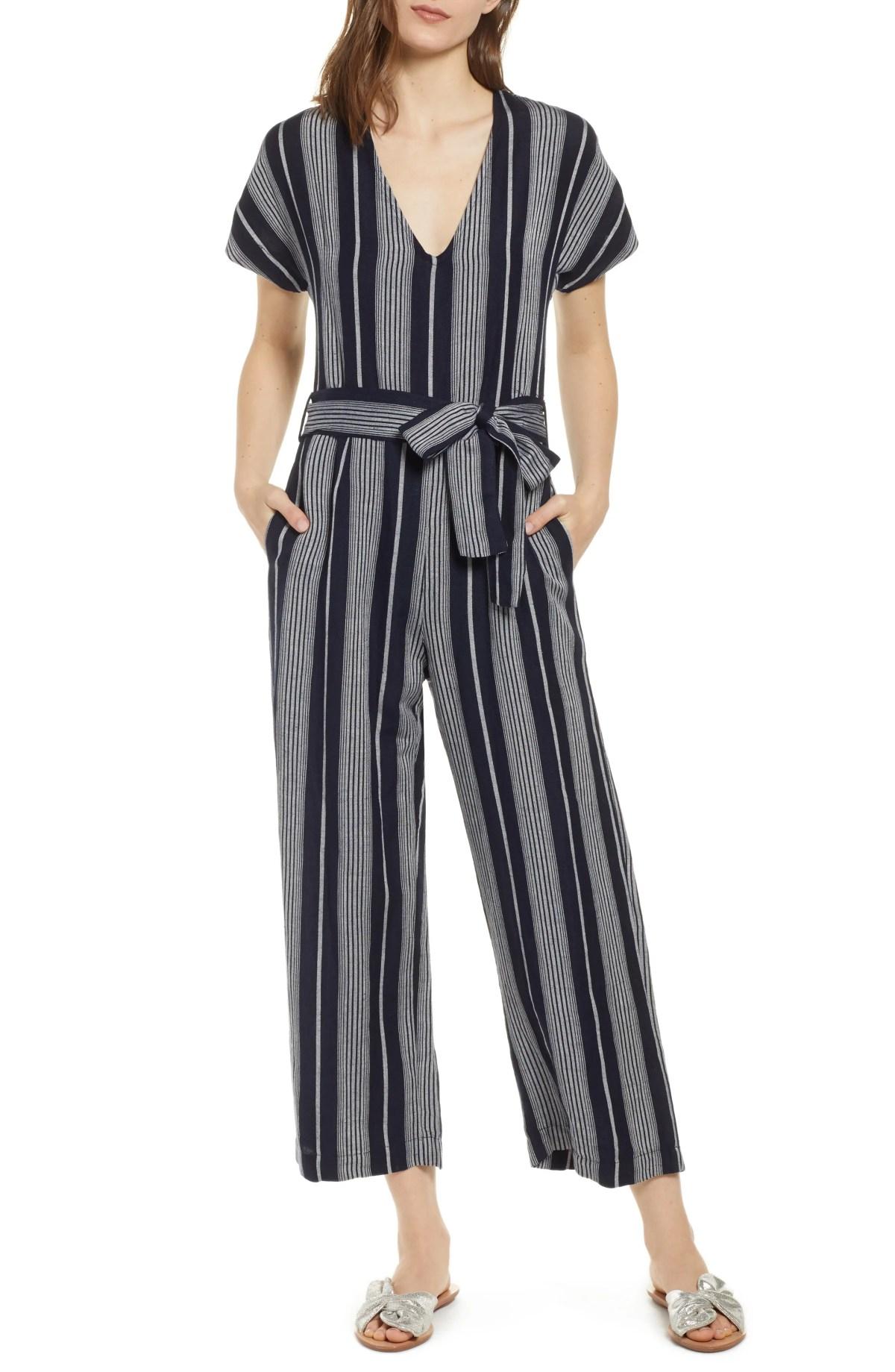 RAILS Angela Stripe Jumpsuit, Main, color, MEDITERRANEAN STRIPE