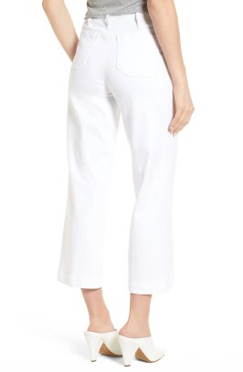 PAIGE Nellie Clean Front Culotte Jeans, Alternate, color, CRISP WHITE