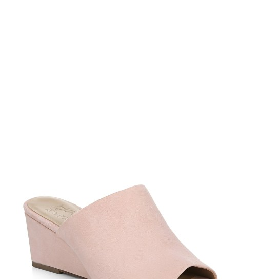 NATURALIZER Zaya Wedge Slide Sandal, Main, color, ROSE PINK LEATHER