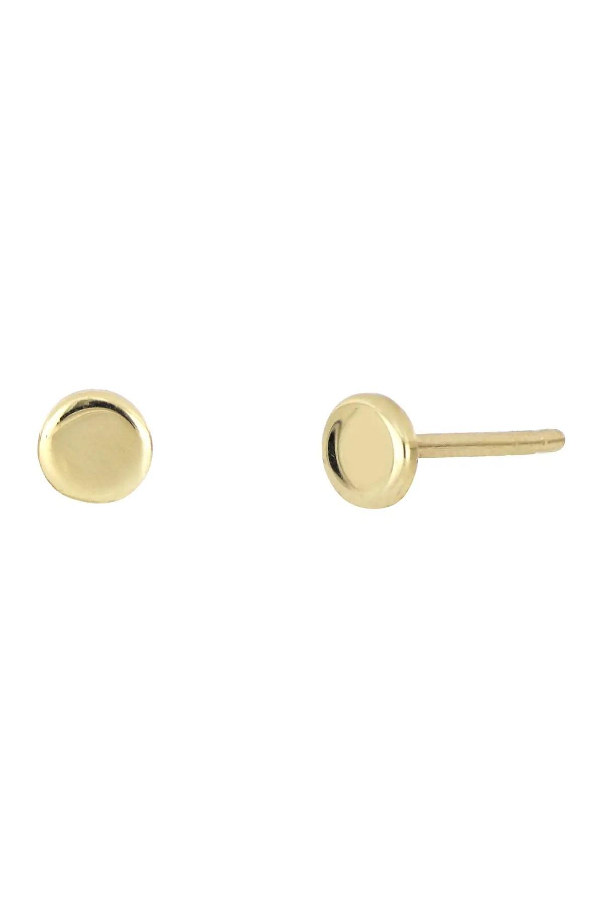 bony levy 14k yellow gold circle stud earrings nordstrom rack