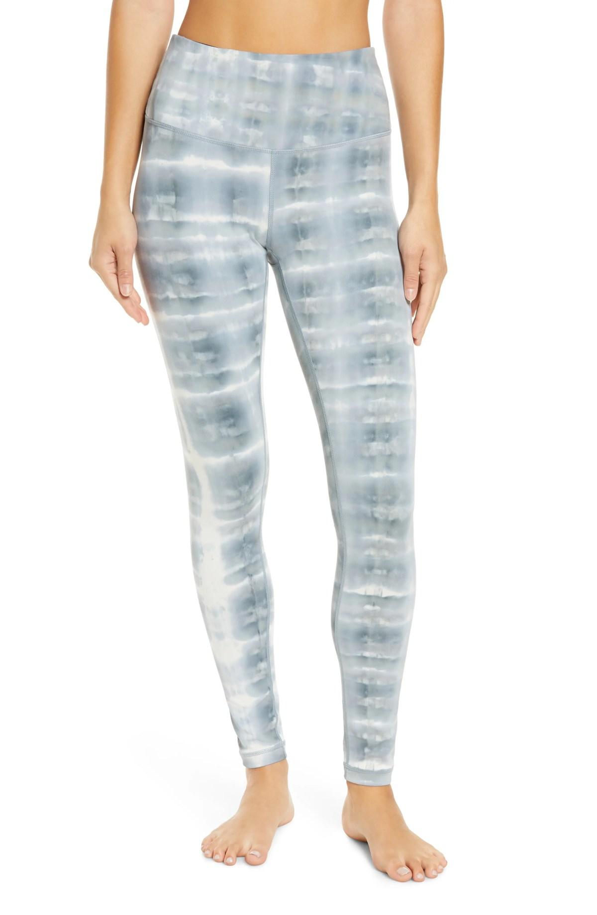ZELLA Spray Dye High Waist Leggings, Main, color, BLUE WEATHER