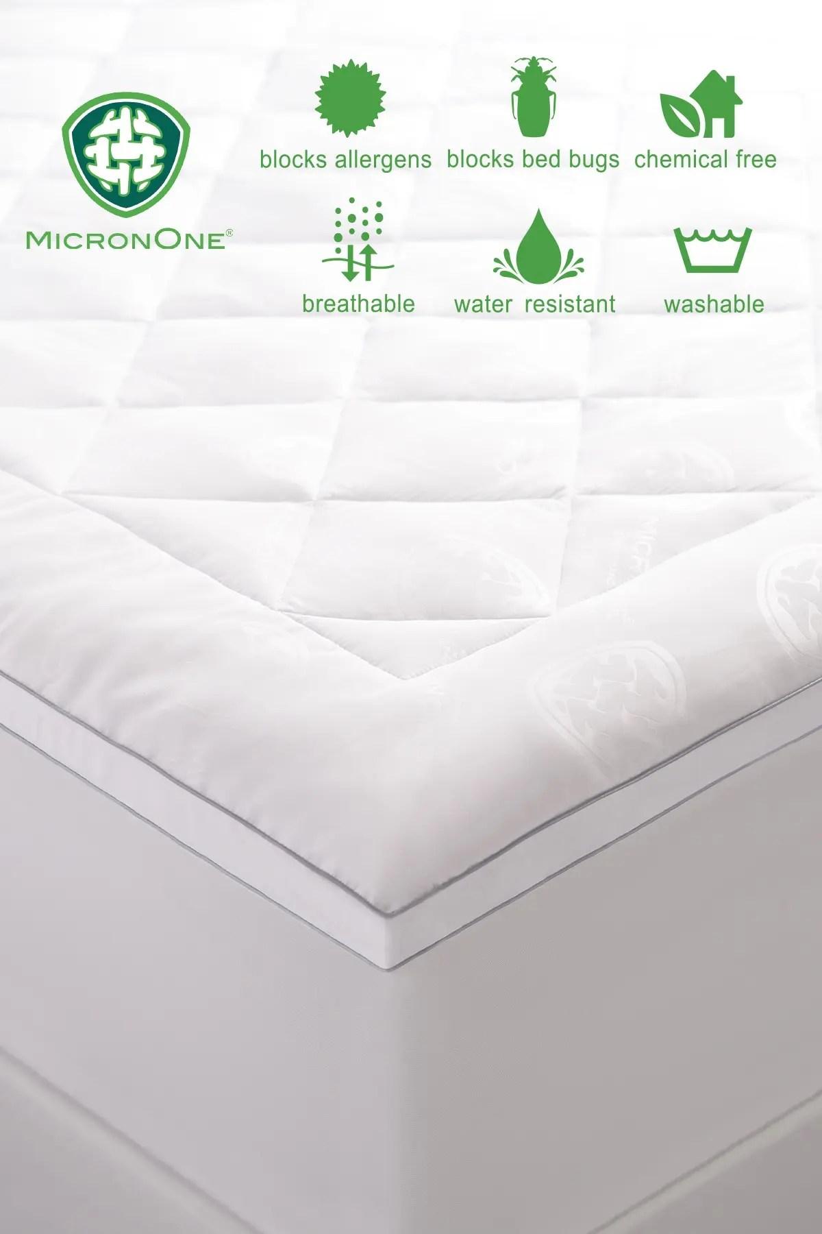 allied home premium micronone queen allergen barrier memorry fiber mattress pad nordstrom rack