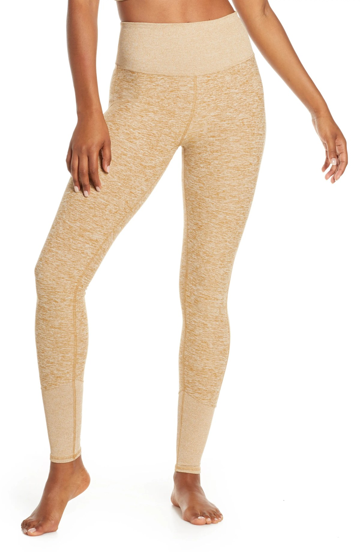 ALO High Waist Lounge Leggings, Main, color, CARAMEL HEATHER