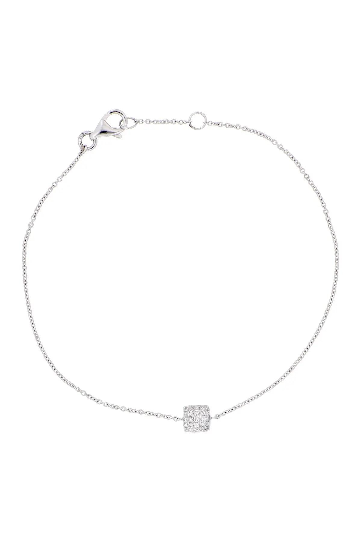 bony levy 18k gold petite cushion diamond dome bracelet 0 09 ctw nordstrom rack