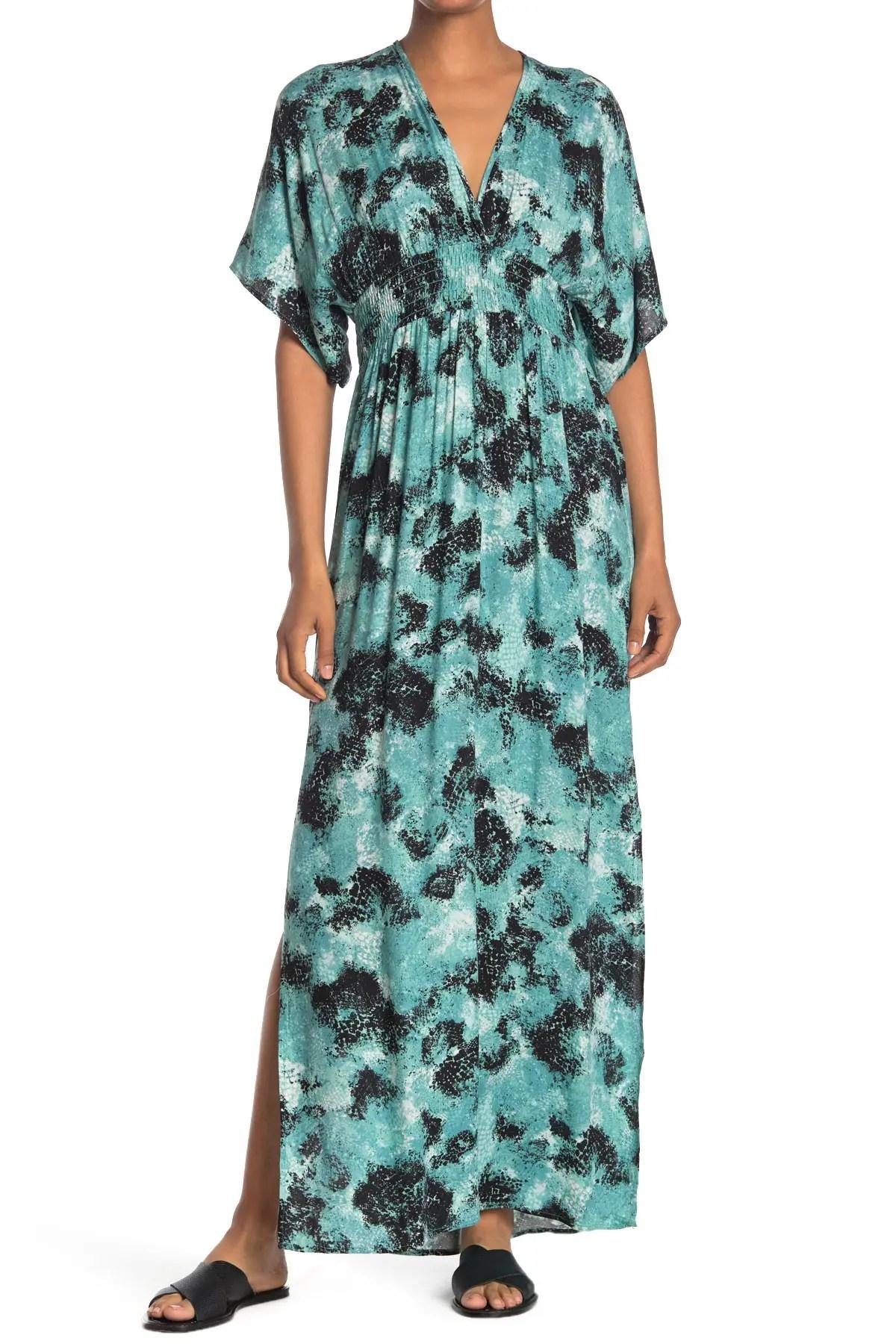 love stitch printed gauze kimono maxi dress nordstrom rack