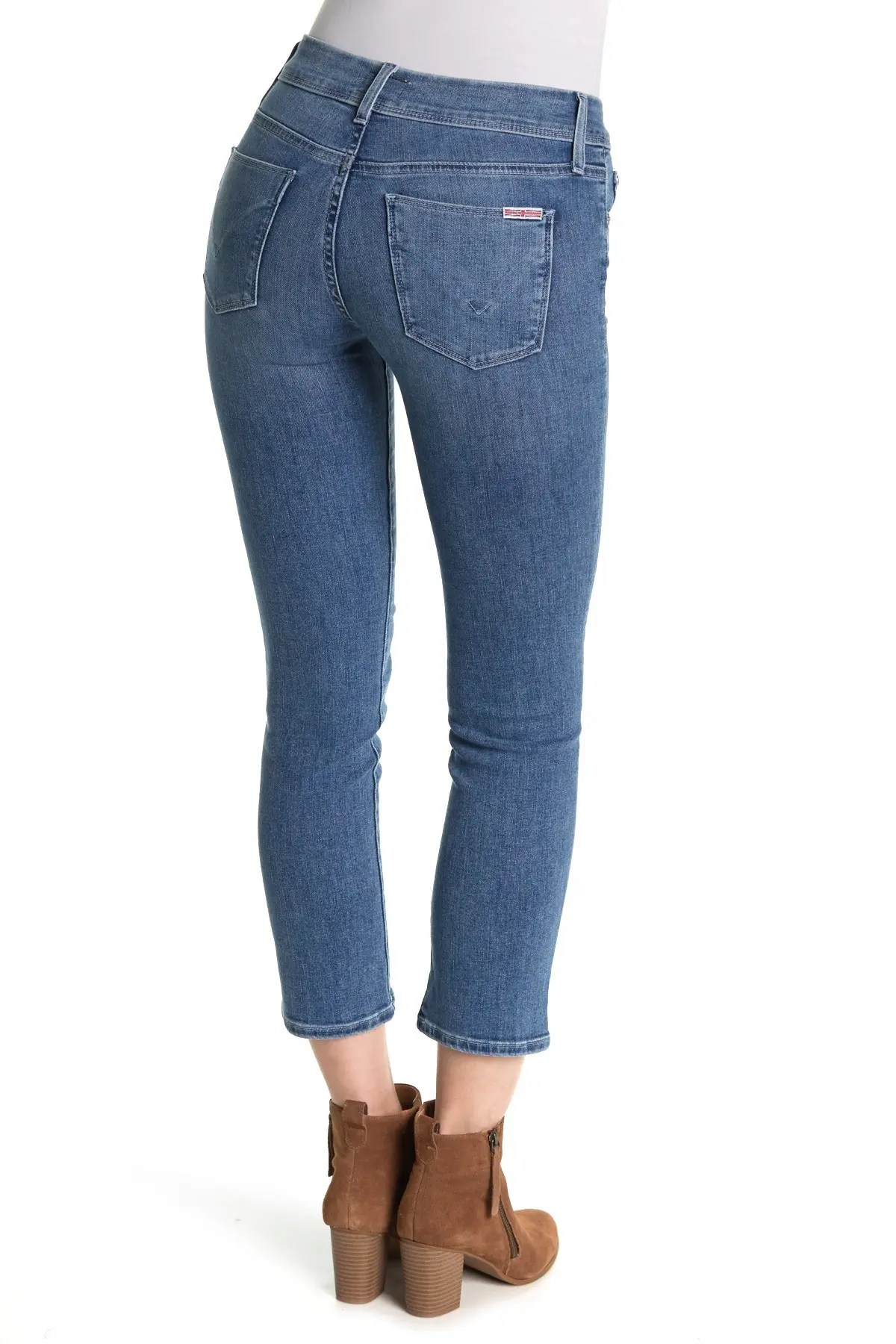 hudson jeans ginny cropped straight leg jeans nordstrom rack
