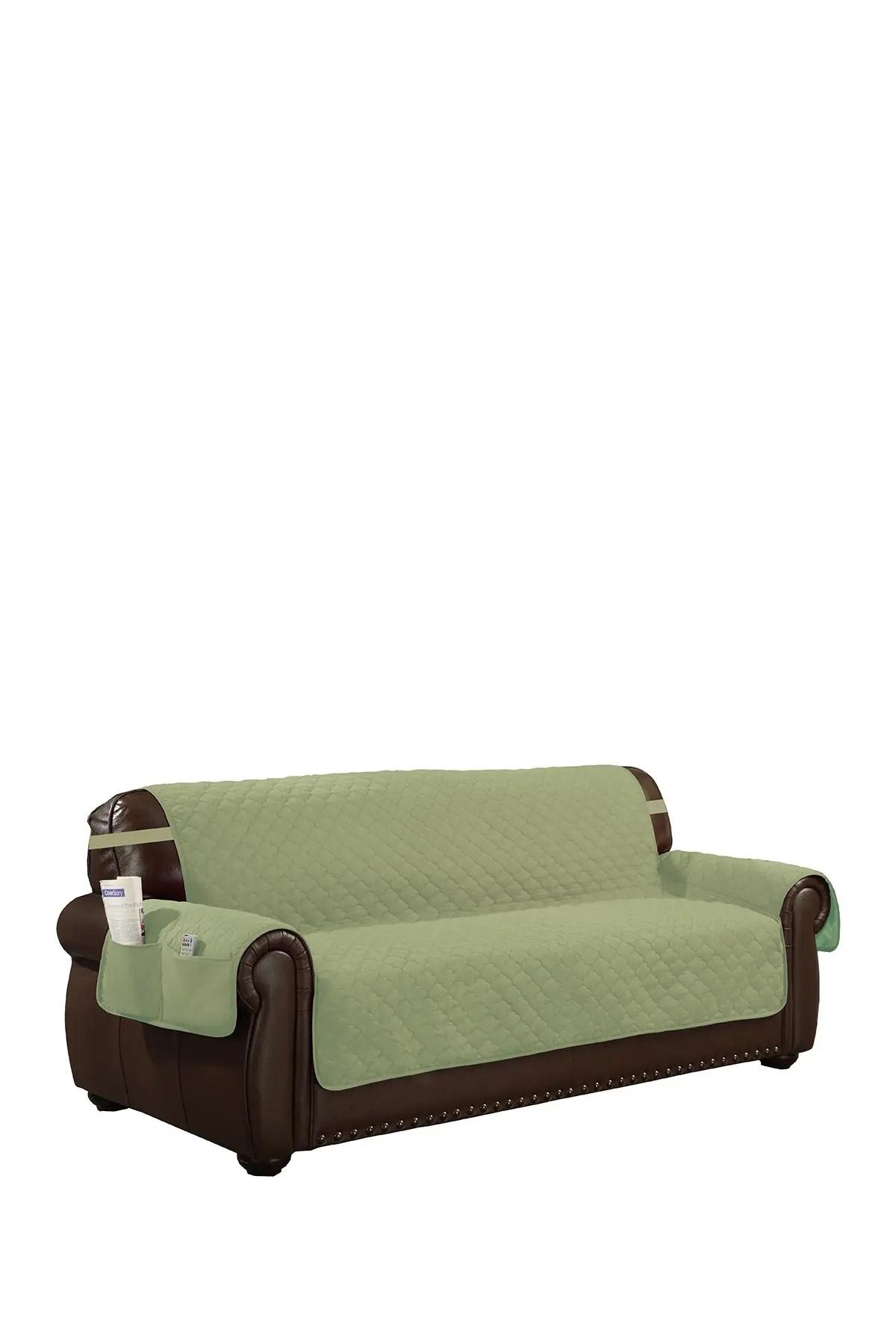 duck river textile sage chocolate jameson reversible waterproof microfiber exrta sofa cover nordstrom rack