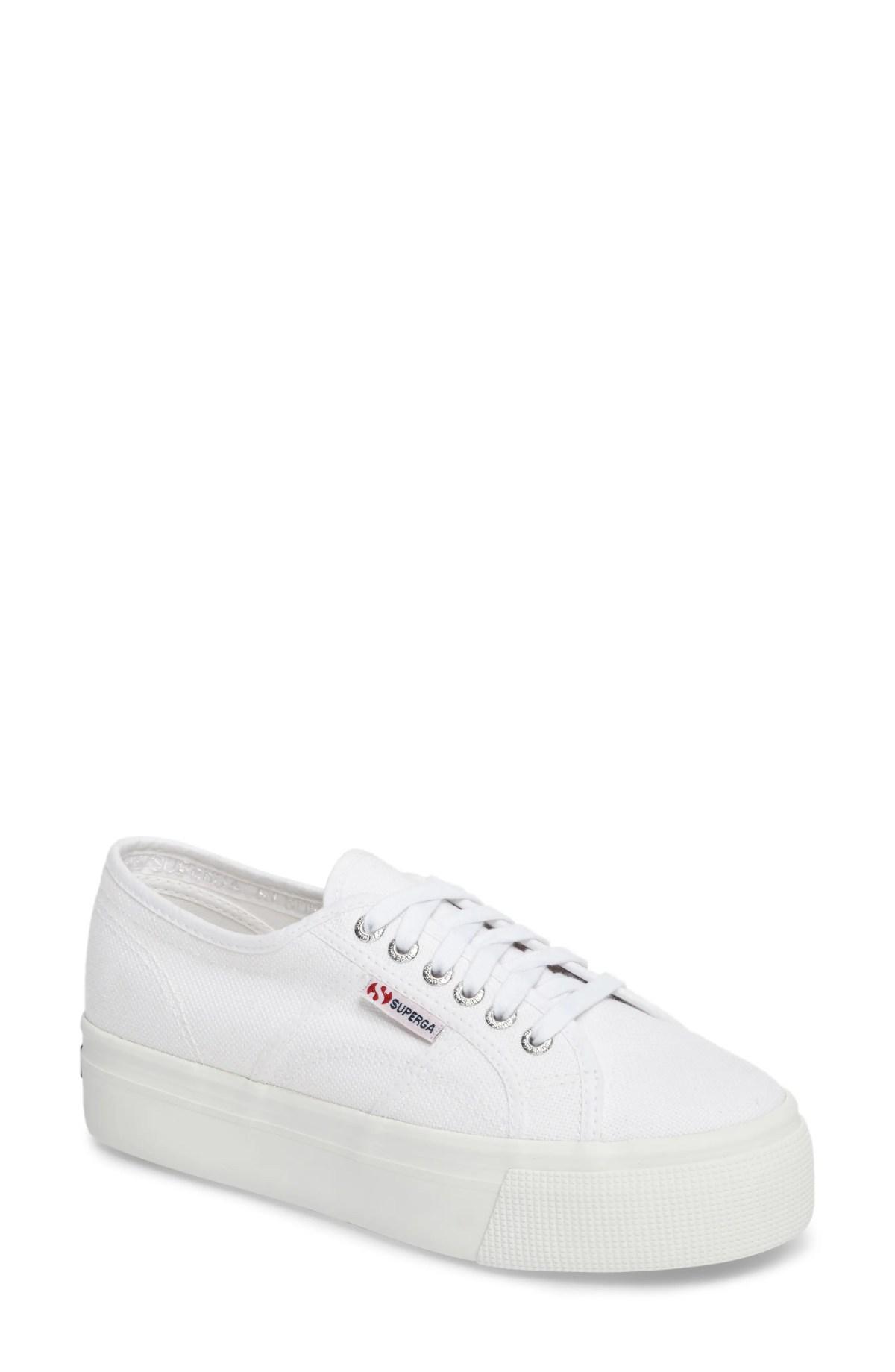 SUPERGA 'Acot Linea' Sneaker, Main, color, WHITE