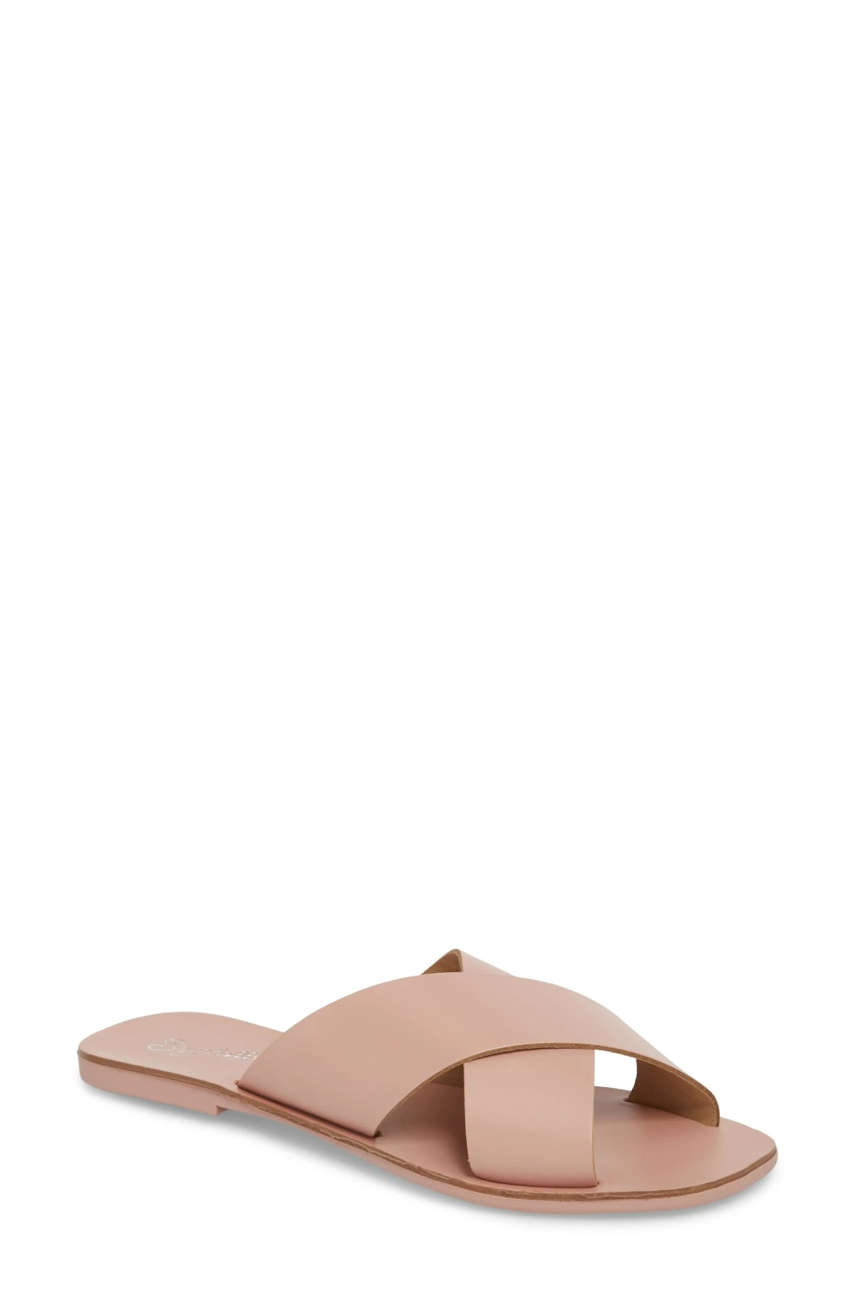 SEYCHELLES Total Relaxation Slide Sandal, Main, color, PINK LEATHER