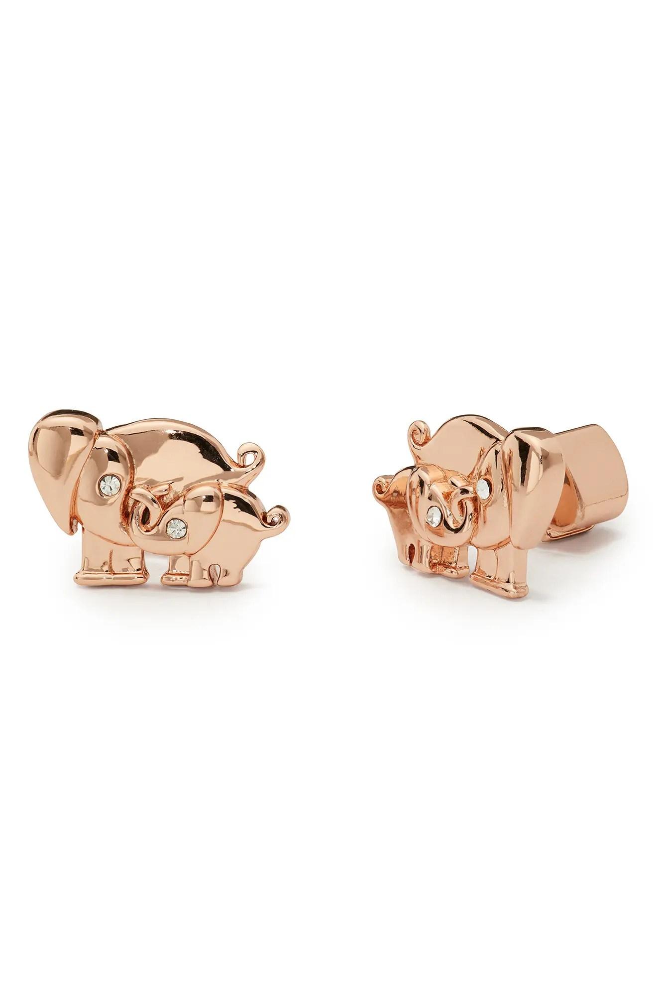 kate spade new york mom knows best elephant stud earrings nordstrom rack