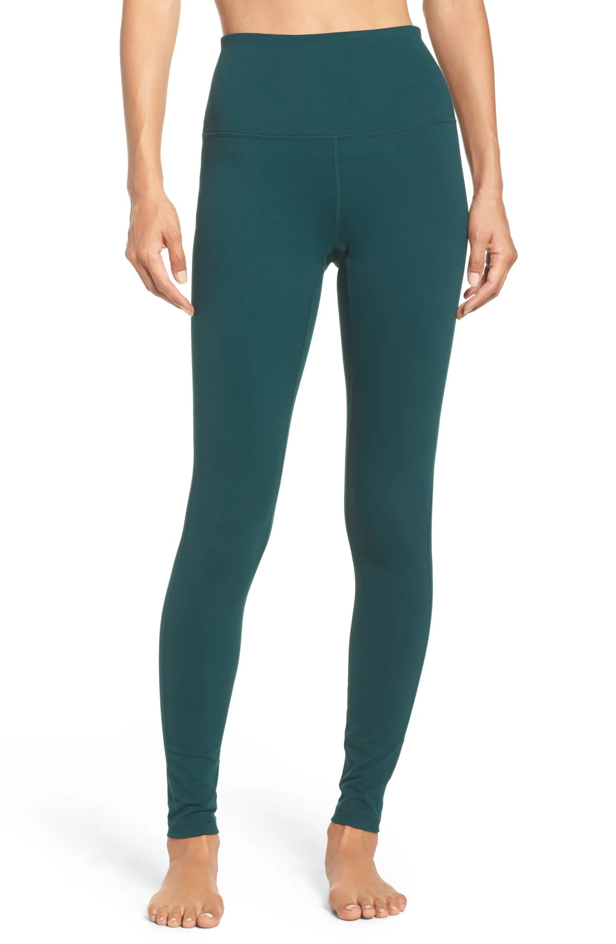ZELLA Live In High Waist Leggings, Main, color, GREEN PONDEROSA