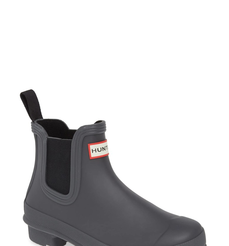 Original Waterproof Chelsea Rain Boot, Main, color, BLACK/ LUNA
