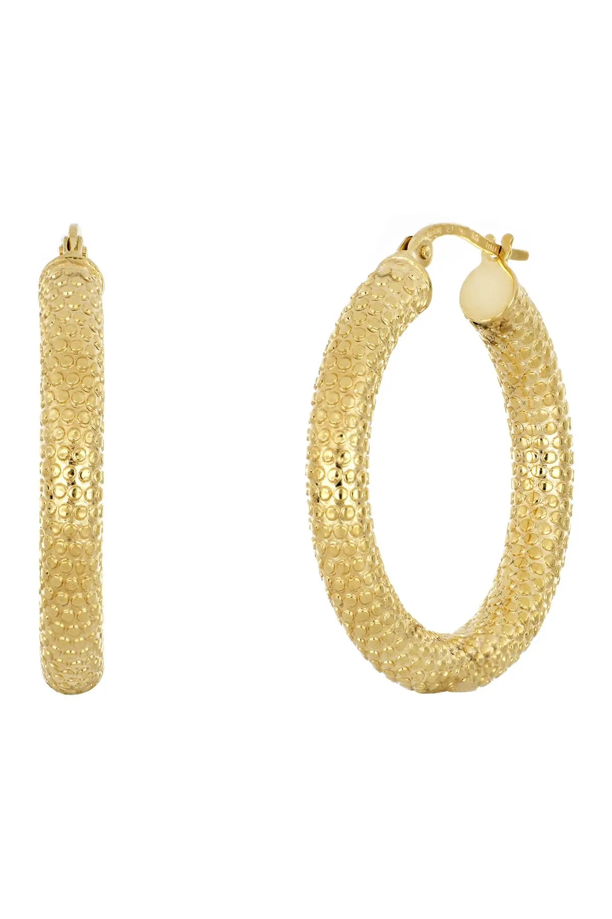 bony levy 14k yellow gold textured 20mm hoop earrings nordstrom rack