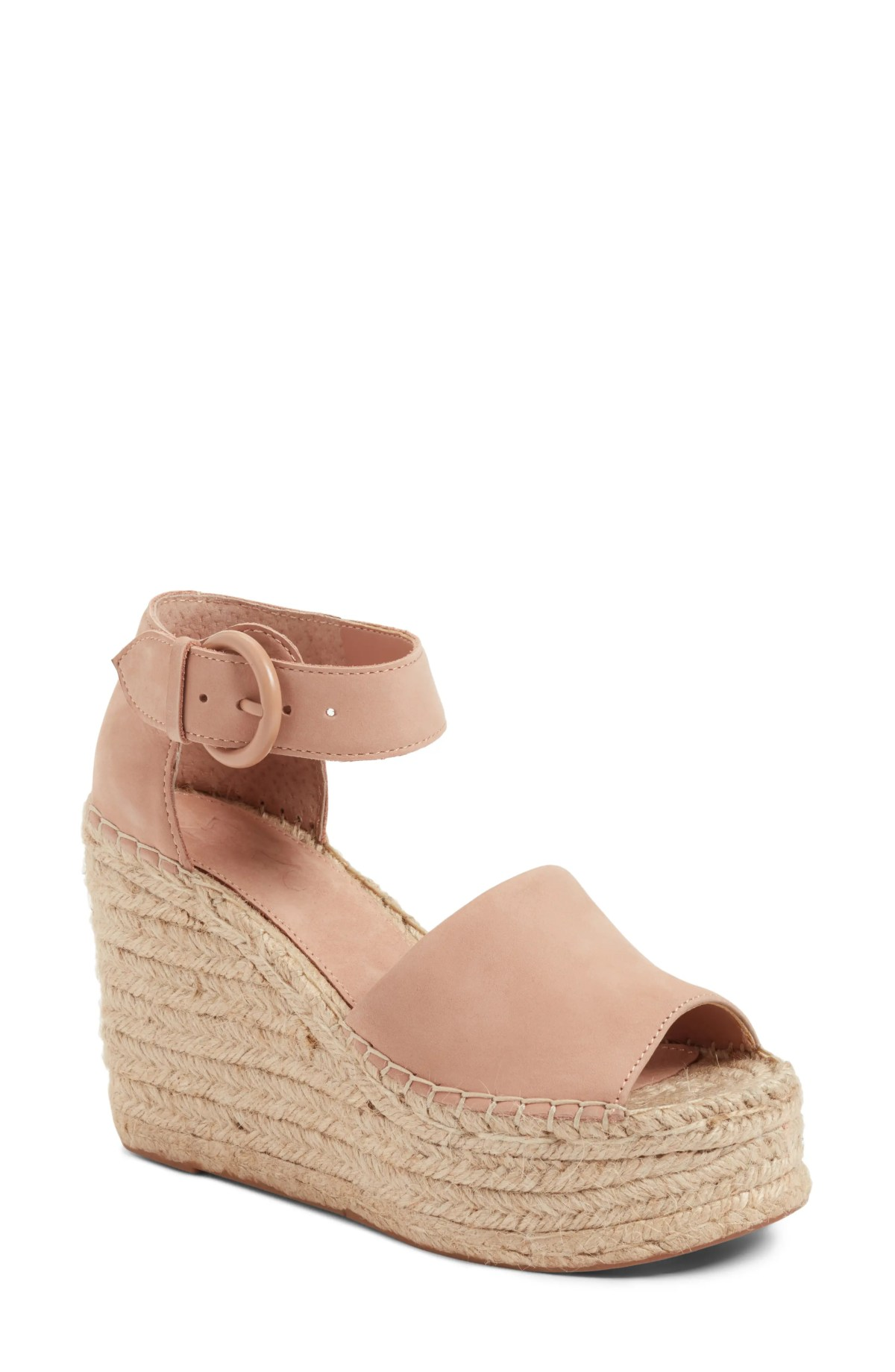 MARC FISHER LTD Alida Espadrille Platform Wedge, Main, color, BLUSH SUEDE
