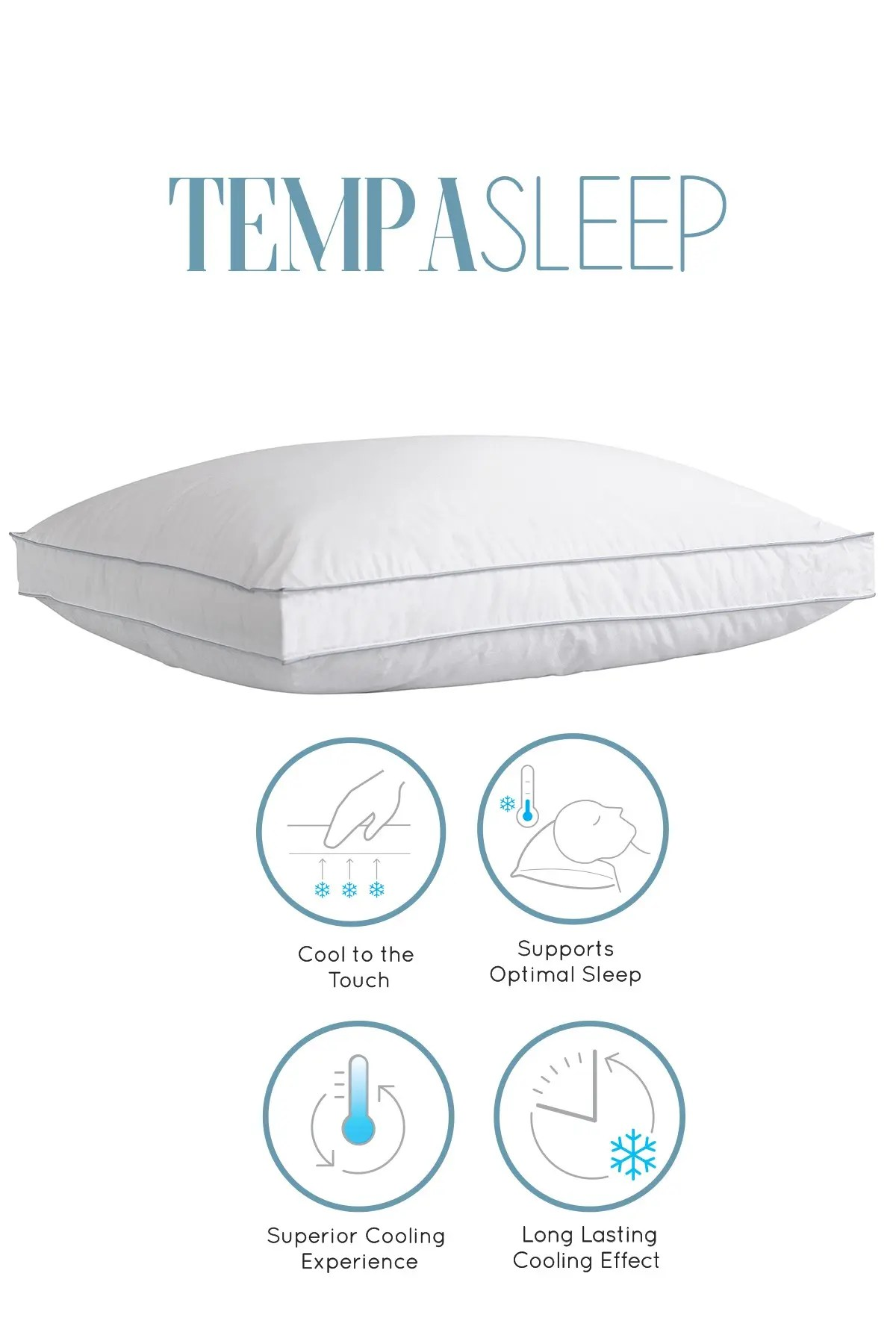 climarest tempa sleep king cotton cooling down alternative gusseted pillow nordstrom rack