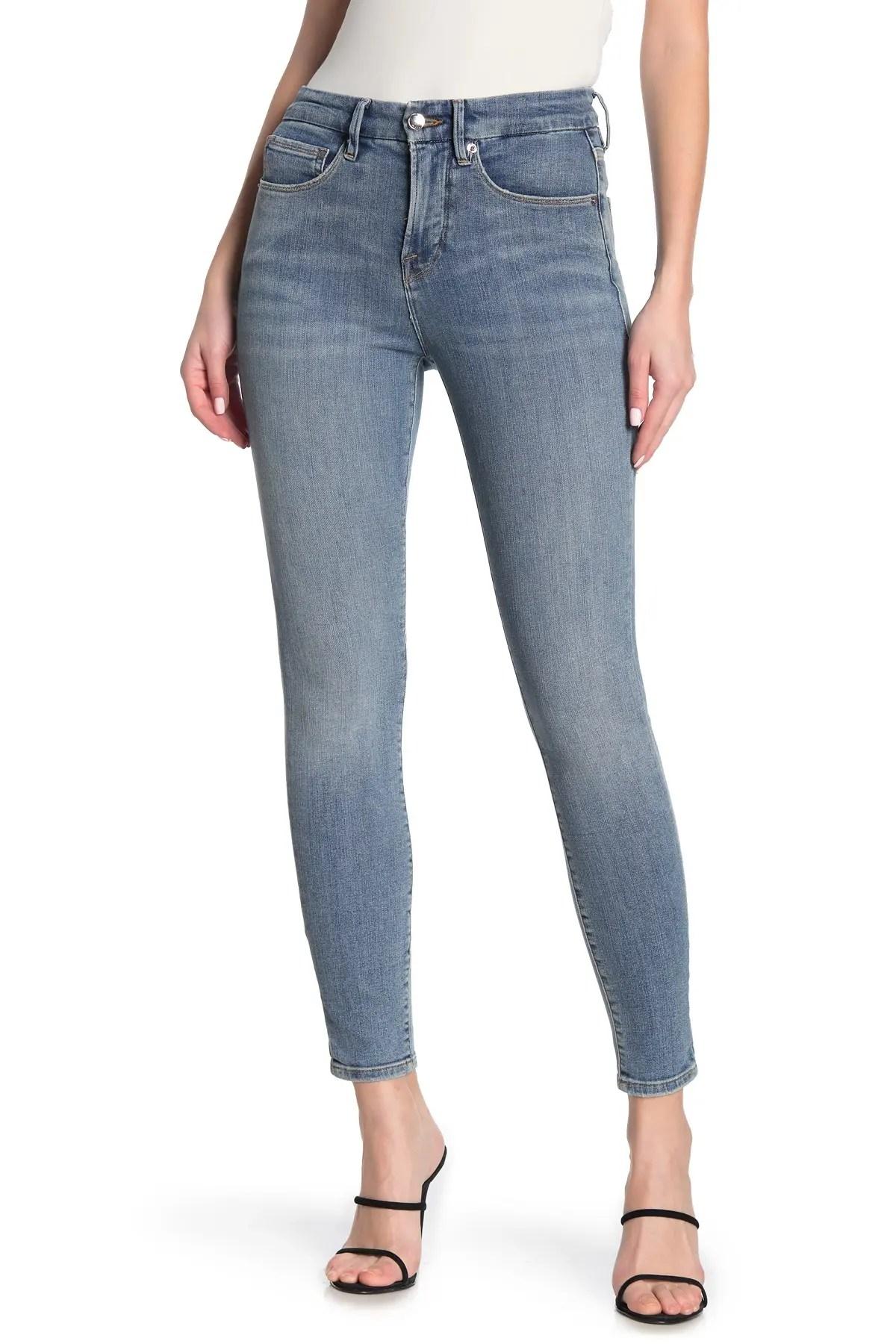 good waist crop skinny jeans