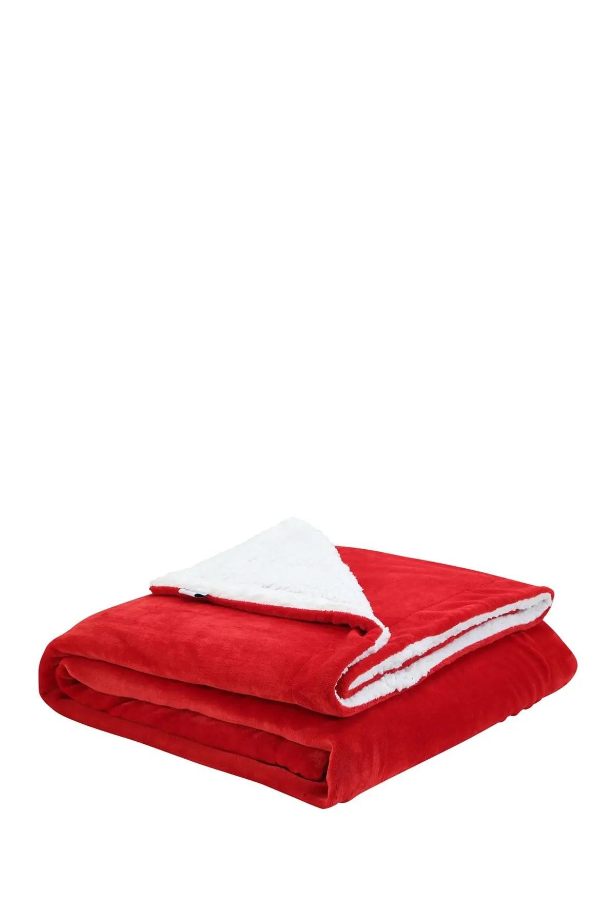 inspired home cozy tyme saleem sherpa throw blanket 108x90 red king nordstrom rack