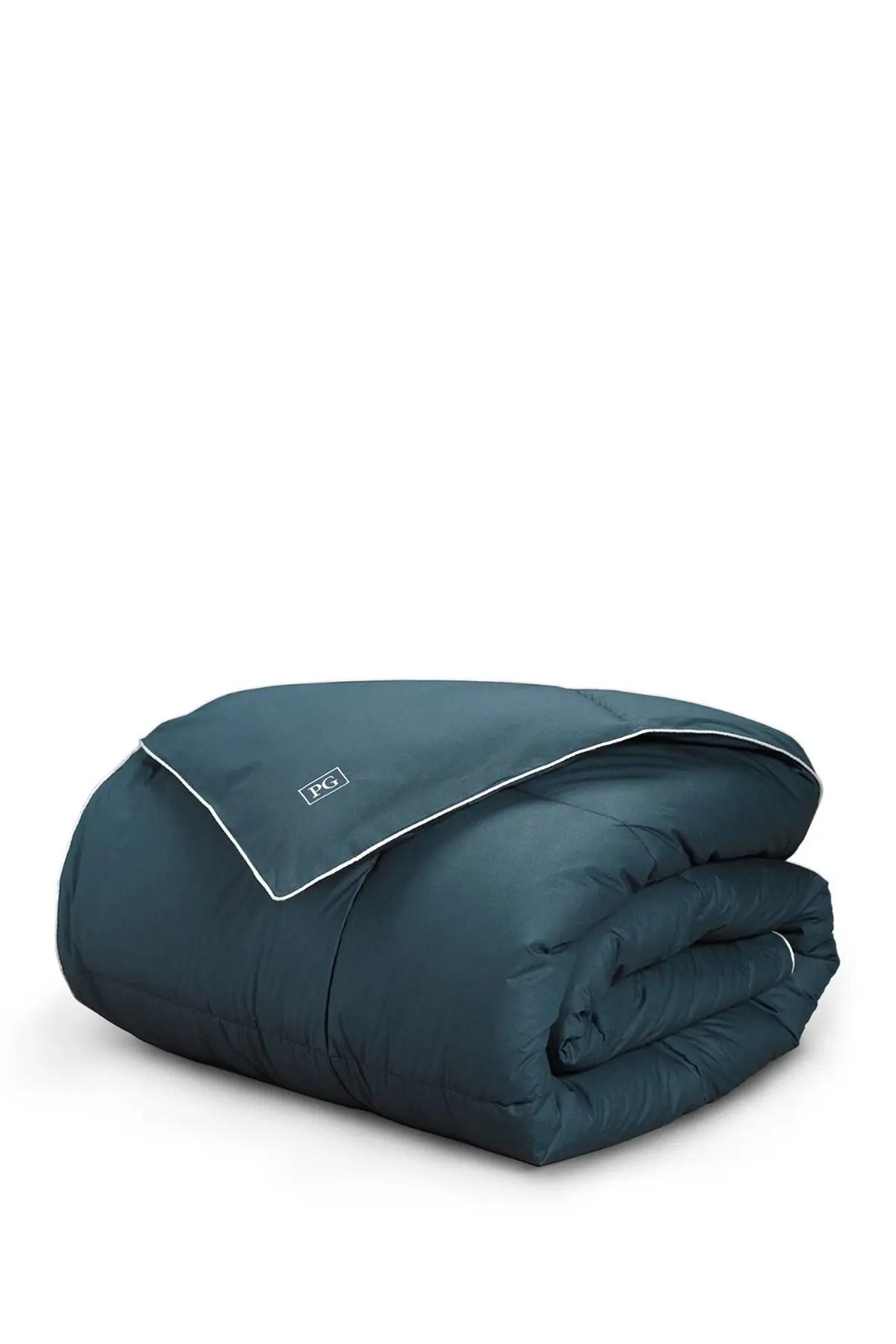 pillow guy navy teal all season down alternative comforter nordstrom rack