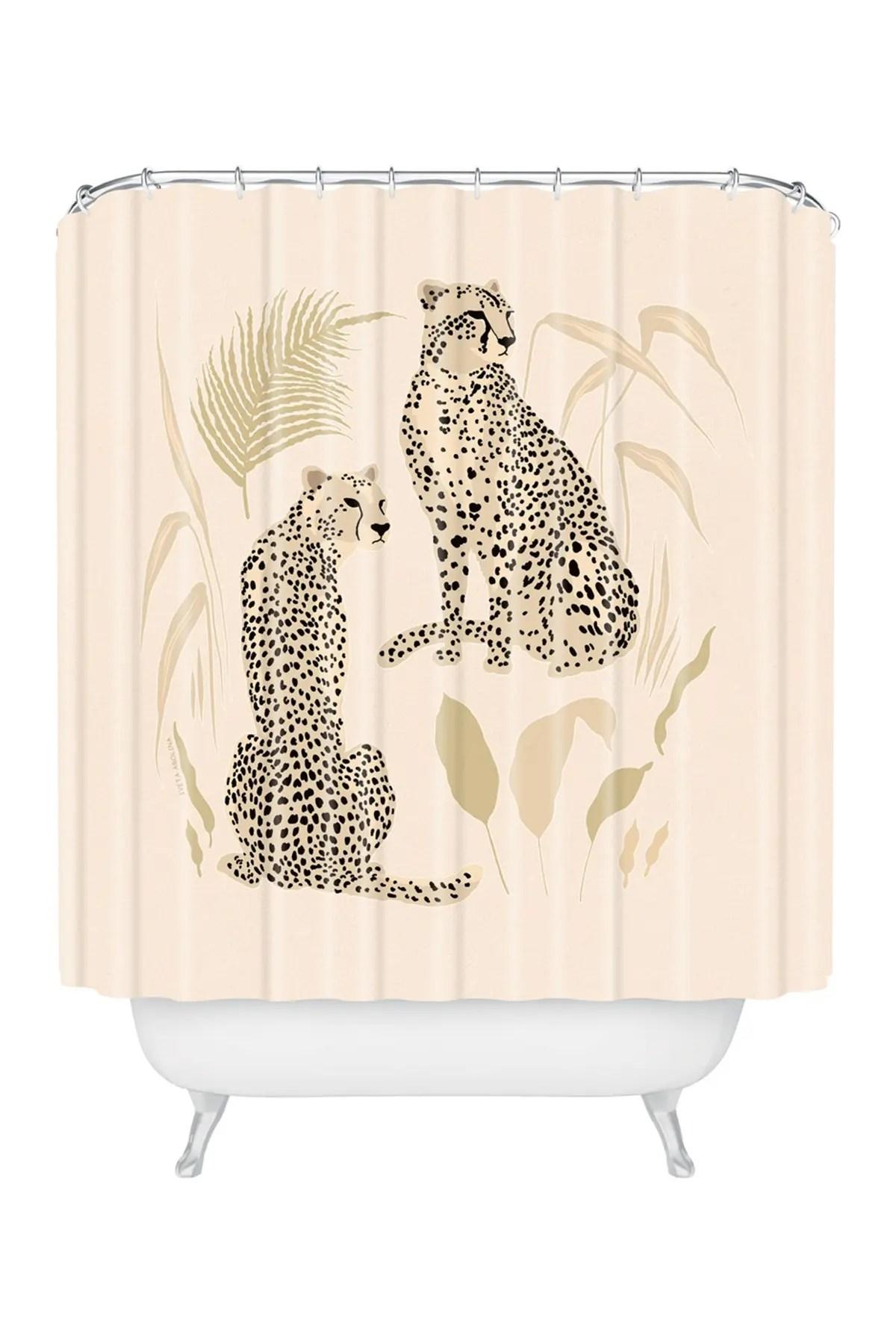 deny designs iveta abolina aguirre cheetahs shower curtain nordstrom rack