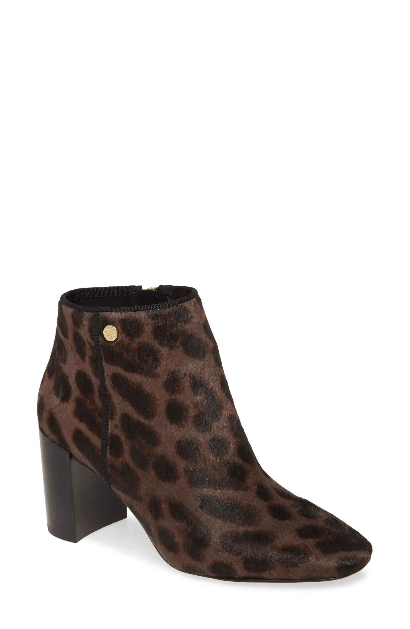 KARL LAGERFELD PARIS Ramma Genuine Calf Hair Boot, Main, color, CHOCOLATE/ BLACK CALF HAIR