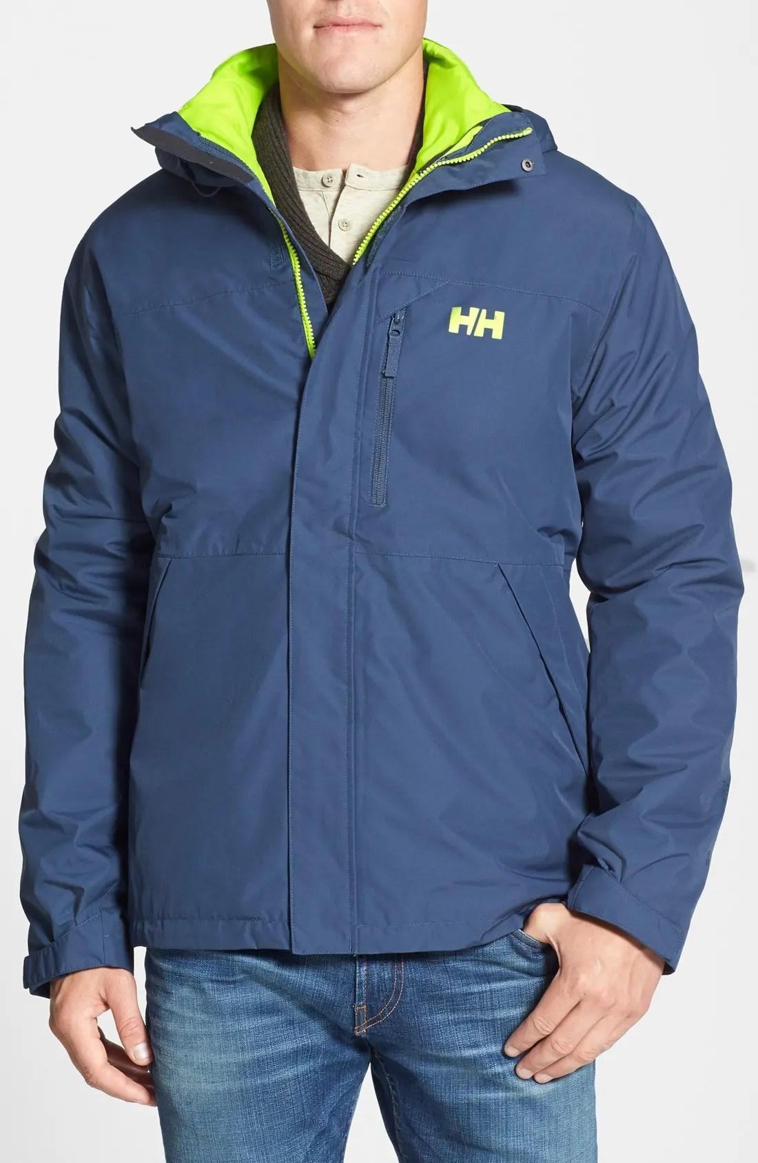 helly hansen squamish 3 in 1 water repellent hooded jacket nordstrom rack