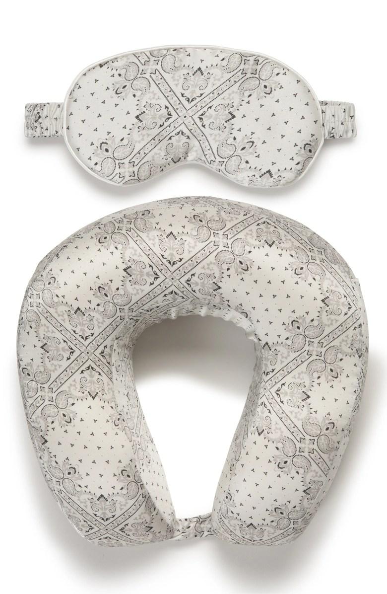 calpak silk travel neck pillow eye mask set nordstrom
