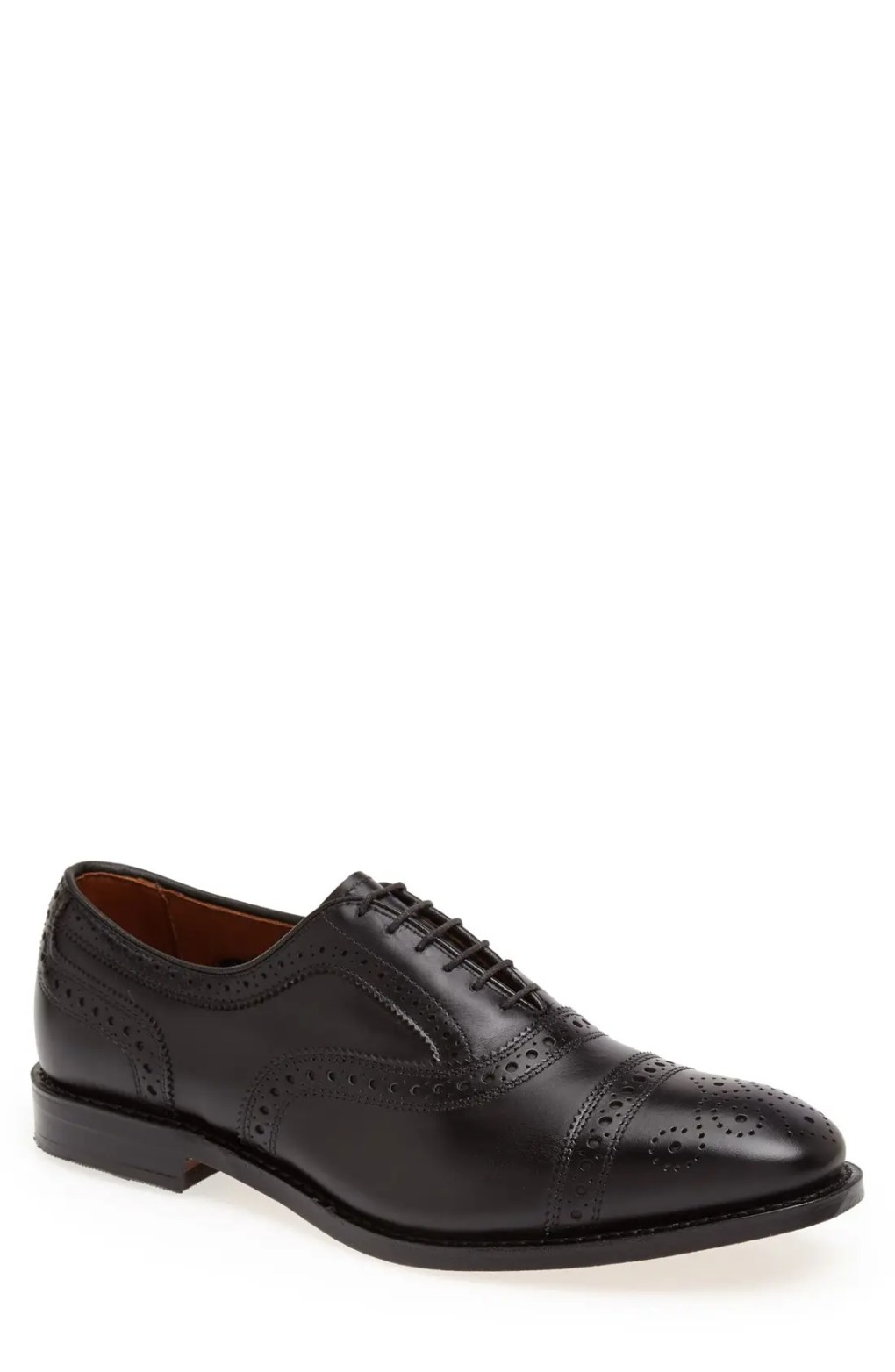 Men's Allen Edmonds Strand Cap Toe Oxford, Size 10 D - Black