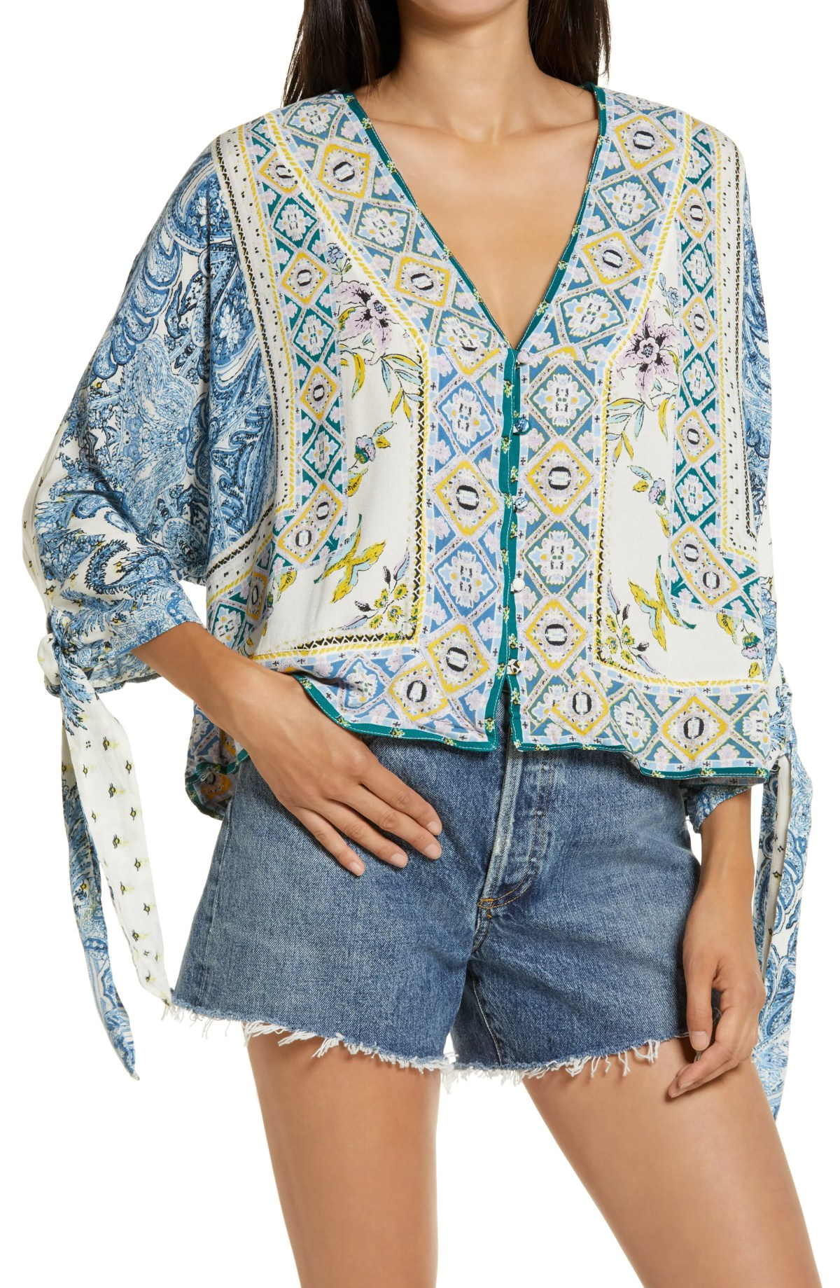 FREE PEOPLE Catch Me If You Can Top, Main, color, LIGHT COMBO