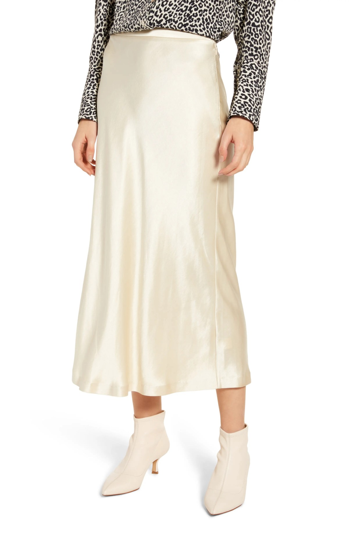 Midi Slip Skirt, Main, color, BEIGE ANGORA