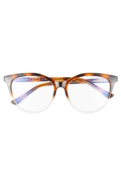 Quay Australia All Nighter 50mm Blue Light Blocking Glasses, $55