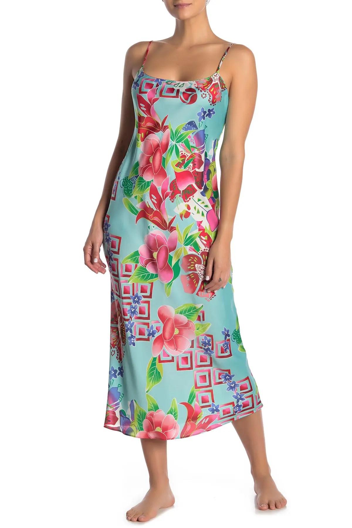 star blossom slip nightgown