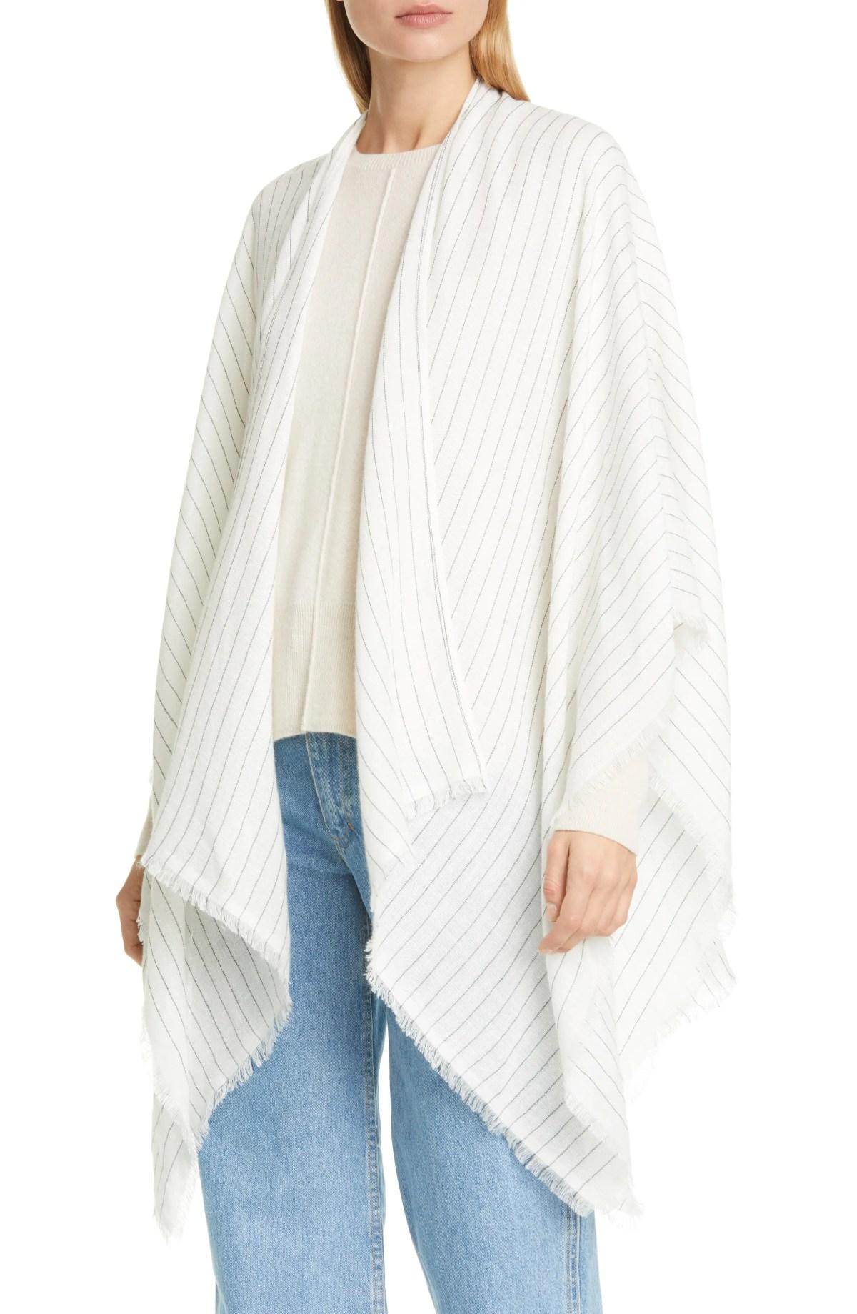 RAG & BONE Pinstripe Wrap, Main, color, WHITE